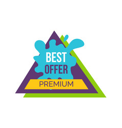 best offer premium sticker vector image vector image