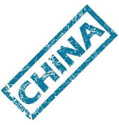 China rubber stamp vector image