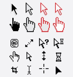Computer cursor and pointers icons vector