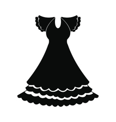 Dress icon simple style vector