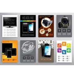 Flyers and brochurs design templates vector