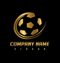 golden ball logo vector image vector image