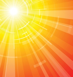 hot summer sun vector image vector image