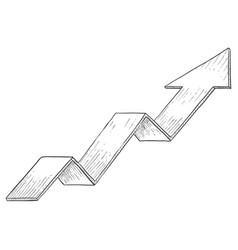 Indication arrow up arrow statistic financial vector
