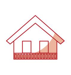 Italian house icon vector
