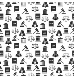 law and justice seamless pattern vector image vector image