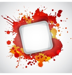 Modern white frame with red blots vector