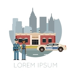 Police Department Banner10 vector image