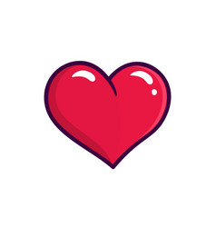red heart icon isolated on white background vector image