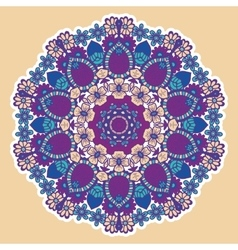 Round colorful mandala vector image vector image
