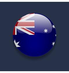 Round icon with flag of australia vector