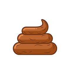 Shit on white background icon turd brown poop vector
