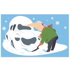 Snowdrift vector image vector image