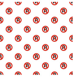 uturn prohibited pattern seamless vector image