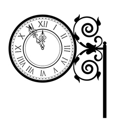 vintage street clock vector image vector image