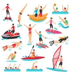 Water sport set vector
