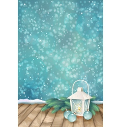 Winter Christmas Scene Background vector image vector image