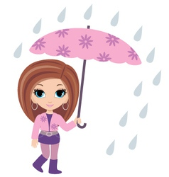 woman with umbrella vector image vector image