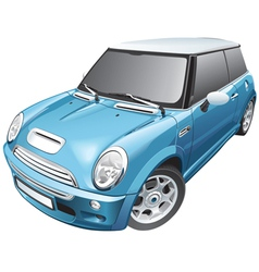 Blue small car vector