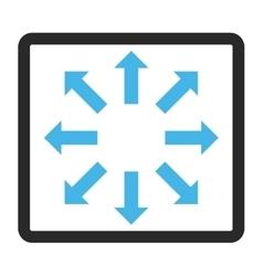 Explode arrows framed icon vector