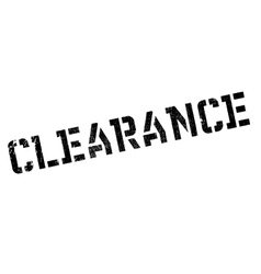 Clearance stamp rubber grunge vector