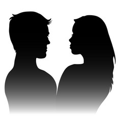 Silhouettes of men and women vector