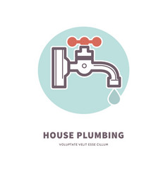 House plumbing firm advertisement vector