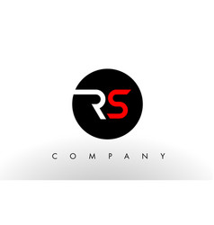 Rs logo letter design vector