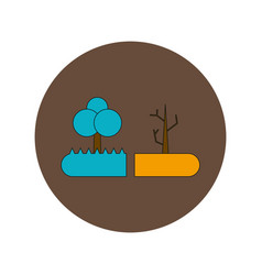In flat design of drought and vector