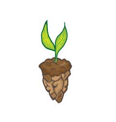 plant leaf green ground art vector image