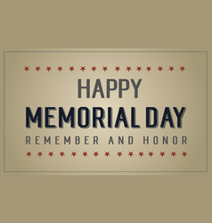 Collection banner memorial day event collection vector