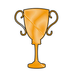 Drawing trophy award sport winner element vector