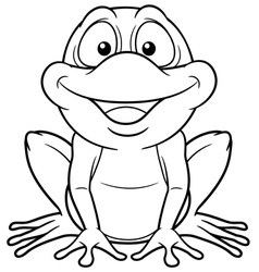 Frog outline vector