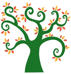 Cartoon tree vector