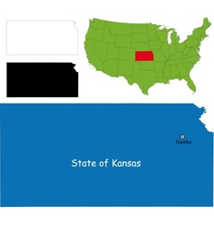 Kansas map vector