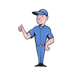 Repairman tradesman worker thumbs up vector
