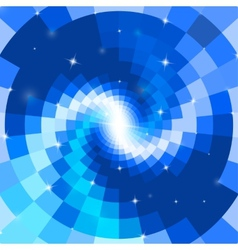 Abstract blue mosaic spiral vector