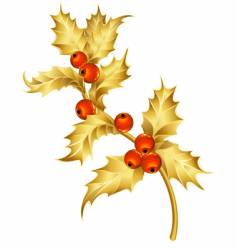 Gold holly vector