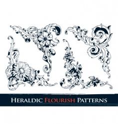 heraldic flourish patterns vector image