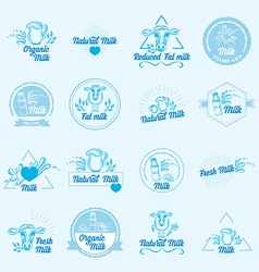 Natural milk with splashes icons design Healthy vector image
