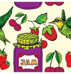 jam jar print vector image