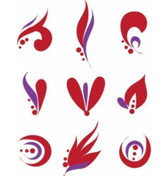 set of different abstract symbols for design vector image