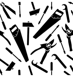 Seamless pattern of a icons of tools vector