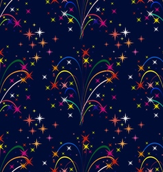 Background colorful fireworks vector