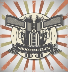 Symbol shooting club vector