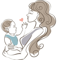 Mother and baby vector