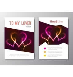Valentines day backgrounds with abstract vector