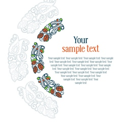 round ornament textual frame vector image