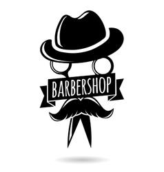 Barbershop hipster logo character vector