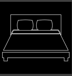 bed the white path icon vector image vector image